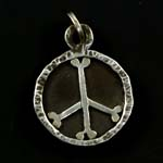 Dog Bone Peace Sign Dog Tag
