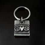 Paws for Peace Keychain