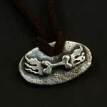 Guardian Angel Plaque Necklace