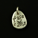 Canine Karma Peace, Love & Dogs Charm
