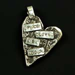 Peace, Love & Dogs Dog Tag