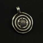 Paw Print Medallion Dog Tag