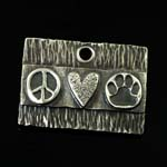 Paws for Peace Dog Tag