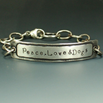 Peace, Love & Dogs Layered ID