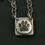 Small Dog Paw Print Locket