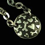 Sprinkles Plaque Necklace