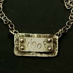 Woof Riveted Necklace