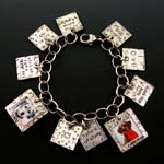 Yin & Yang of Dog Custom Photo Charm Bracelet